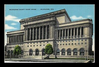 Dr Jim Stamps Us Postcard Milwaukee County Court House Wisconsin