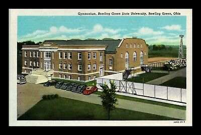 Dr Jim Stamps Us Postcard Bowling Green State University Gymnasium Ohio Linen