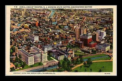 Dr Jim Stamps Us Postcard State Capital And Business Section Trenton New Jersey