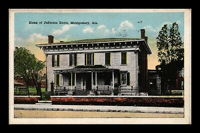 Dr Jim Stamps Us Postcard Home Of Jefferson Davis Montgomery Alabama Linen
