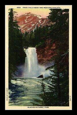 Dr Jim Stamps Us Postcard Trick Falls New Two Nedicine Chalets Montana Linen