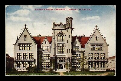 Dr Jim Stamps Us Postcard Ryerson Physical Lab University Of Chicago Illinois