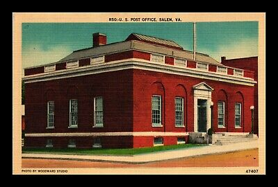 Dr Jim Stamps Us Postcard Us Post Office Salem Virginia Linen