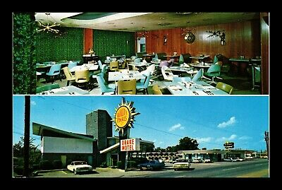 Dr Jim Stamps Us Postcard Drake Motel Restaurant Chattanooga Tennessee