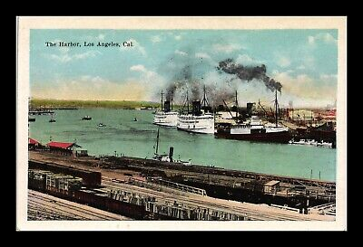 Dr Jim Stamps Us Postcard The Harbor Los Angeles California
