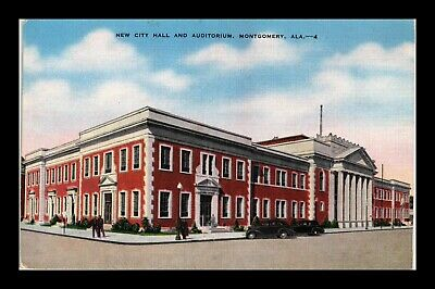 Dr Jim Stamps Us Postcard New City Hall And Auditorium Montgomery Alabama