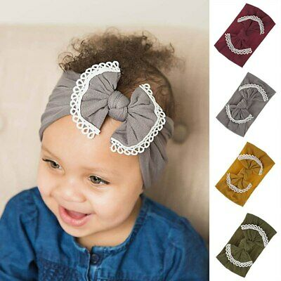 New newborn Baby Headband Turban Soft Kids Child Girl Bows Hair Band breathable