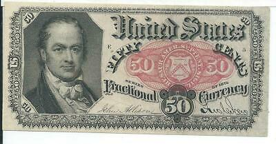 5th Issue Red Seal 50 Cents United States Fractional White Paper FR1381 Plate E5