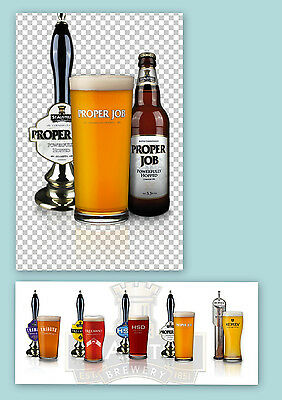 PROPER JOB ALE Pint BEER GLASS St.Austell Brewery England