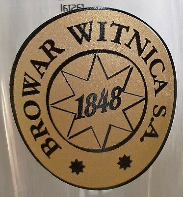 BROWAR WITNICA 1848 - 50cl Beer Glass Poland Local Brewery