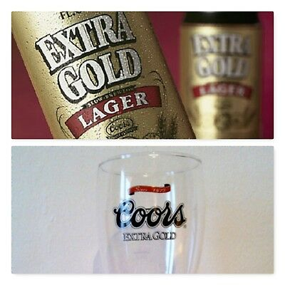 COORS EXTRA GOLD 40cl Beer Glass USA