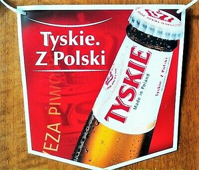 TYSKIE BEER Poland TWO-SIDED BANER 5 meters,10 items Miller Brand