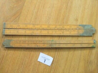 Wooden Rule X 2 Ruler 1942