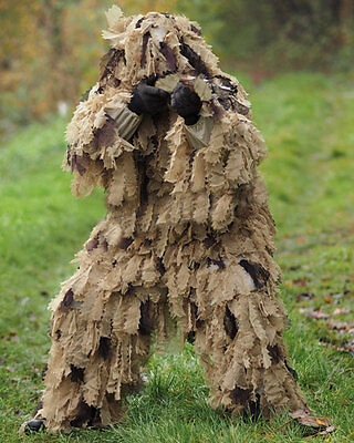 Tarnparka Ghillie Suit Roble Leaf 3d 3 Pc Desierto, Paintball -nuevo
