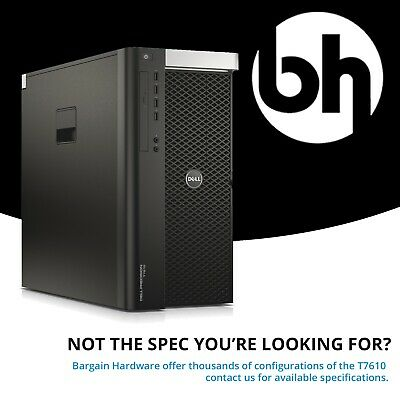 Dell T7610 Workstation 2x Eight 8 Core Intel Xeon Quadro GFX 64GB RAM Tower PC