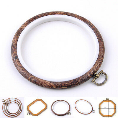 DIY Plastic Embroidery Cross Stitch Ring Hoop Frame Craft Sewing Tools Kit&Craft
