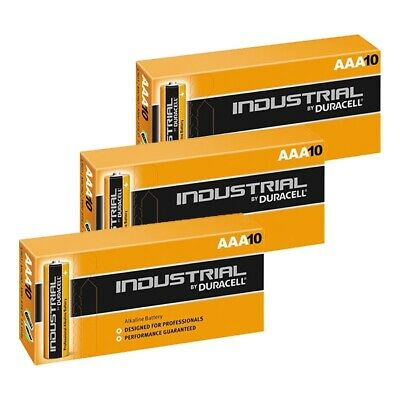 30x Duracell AAA Batteries INDUSTRIAL Alkaline LR03 MN2400 Replaces Procell AAA