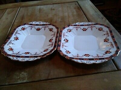 Melba Bone China Cake Plates x 2 - good but used condition xx