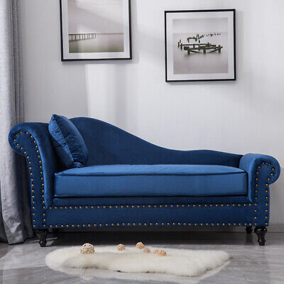 Deluxe Chesterfield Velvet Chaise Lounge Loungue Day Bed 2-3 Seater Sofa Couch