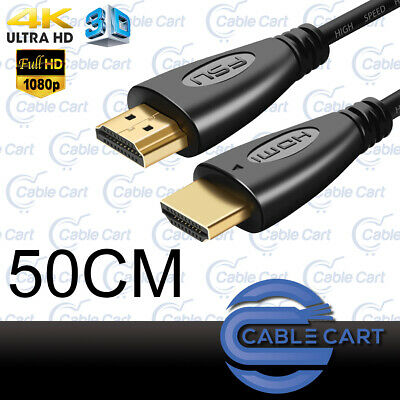 50cm HDMI Cable v2.0 3D Ultra HD 4K 2160p 1080p High Speed with Ethernet HEC ARC