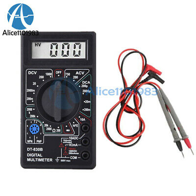 Mini DT830B LCD Digital Multimeter Voltmet Electric Voltage Tester+Test Lead Pen
