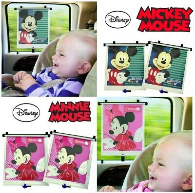 Disney Minnie or Mickie Mouse Roller Blind Car Window Sun Shade Solar Ray Filter