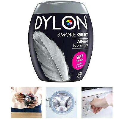 Washing Machine Fabric & Clothes Dye Pod Intense Smoke Grey Colour Powder 350g