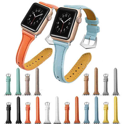 Leather Watch Band iWatch Strap Bracelet for Apple Watch Series4 3/2/1 40mm 38mm