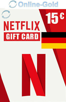 Netflix Gift Card DE 15 Euro Code - €15 EUR Guthaben TV Network - Germany Only