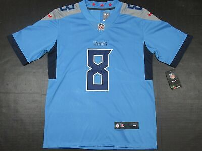free shipping db92a 9ee84 NWT MARCUS MARIOTA #8 Tennessee Titans 2018 Vapor Limited Jersey Light Blue