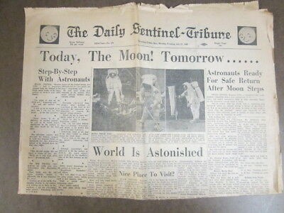JULY 21, 1969, Daily News Tribune Headline: MOON CONQUERED