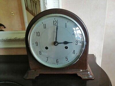 Vintage Bakelite Art Deco 'Smiths Enfield' 8-Day Striking Mantel Clock