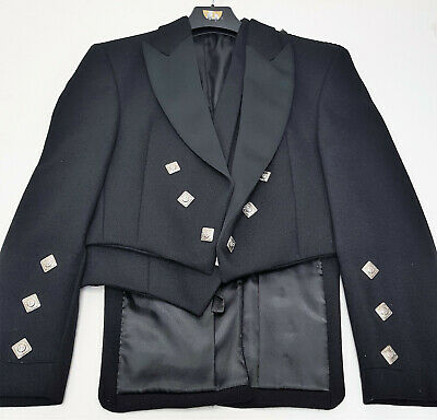 Adult Ex Hire Black Prince Charlie Jacket & Vest Scottish Made A1 condition