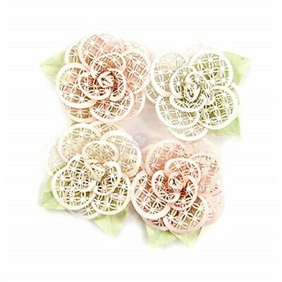 Prima Marketing Poetic Rose Paper Flowers 4/pkg-beautiful Melody