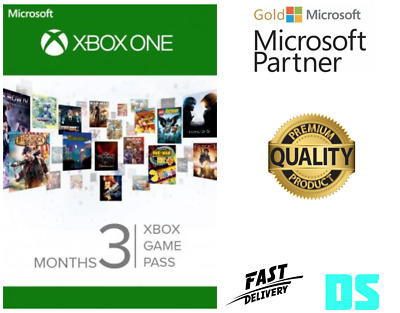 3 Month Xbox Game Pass Xbox One *Region Free* Fast Dispatch