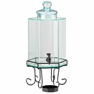 Cal-Mil 1111 Octagon 2 Gallon Glass Dispenser with Ice Chamber