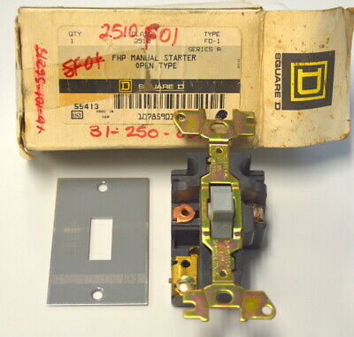 Square D #2510FO1 Manual Starter Open Type With Plate only.