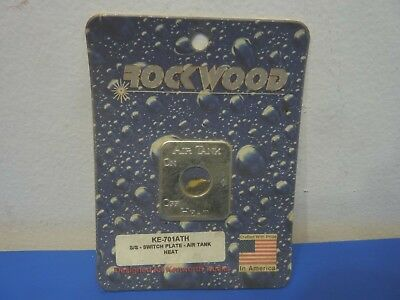 Rockwood KE-701ATH,Stainless Steel Switch Plate Air Tank Heat Emblem,NEW
