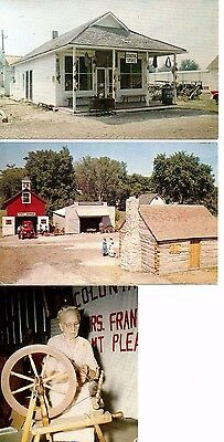 Midwest Old Settlers & Threshers Reunion Mt Pleasant Lot of 3 Vintage Postcards