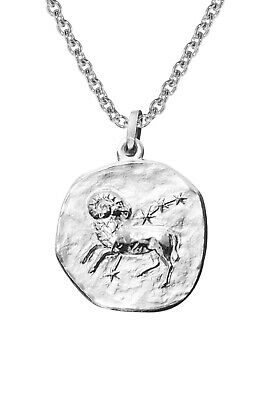Trendor Jewellery Silver Zodiac Signs RAM with Necklace 08444