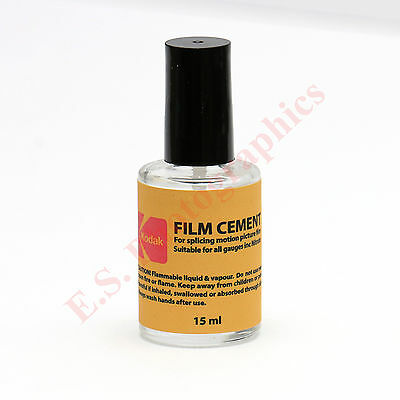 Kodak Film Cement for Splicing All Gauges of Cine Films 15ml Bottle NEW & FRESH