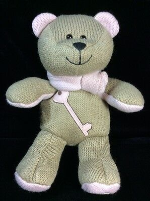 Starbucks Bearista Bear Plush 89th Edition Tan Pink Heart Key Soft Toy Knit 2010