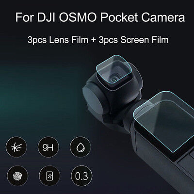 6pcs 9H Tempered Glass Lens Film Screen Protector For DJI OSMO Pocket Camera New