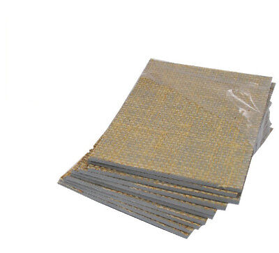 4 x SOFT LINO BLOCK PRINTING BOARD HESSIAN BACKED TILE 200mm x 150mm 3.2mm THICK
