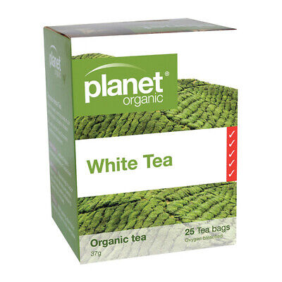12 x 25 tea bags Planet Organic White Tea  ( total 300 tbags)