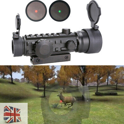 Hunting Scope 2x42 Red/Green Dot Sight With 20mm Rail Mount For Rifle Gun