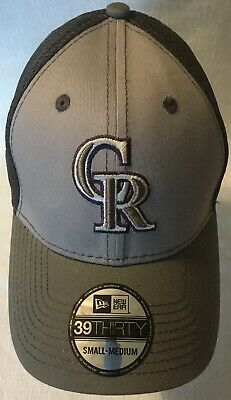 finest selection 96437 3ad9c MLB Colorado Rockies Grayed Out New Era 39THIRTY Stretch Fit Structred Cap  S M