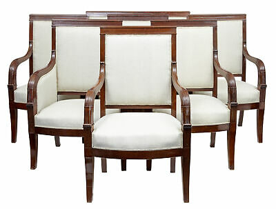 19Th Century 7 Piece French Empire Mahogany Salon Suite