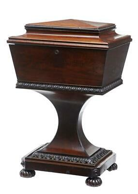 19Th Century Carved Mahogany Teapoy Stamped Gillows