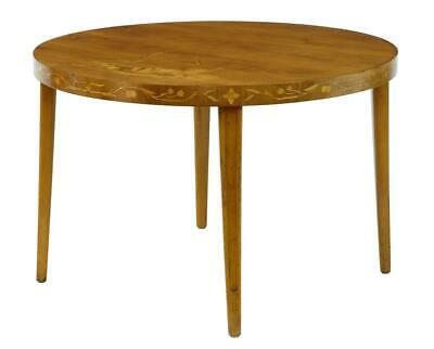 20Th Century Late Art Deco Birch Inlaid Occasional Table